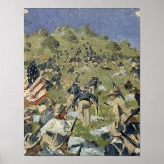 Theodore Roosevelt taking the Saint Juan Poster