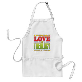 Theology Love Face Aprons