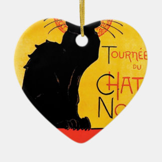 Théophile-Alexandre Steinlen - Tournée du Chat Noi Ceramic Heart Decoration