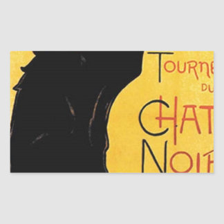 Théophile-Alexandre Steinlen - Tournée du Chat Noi Rectangular Sticker