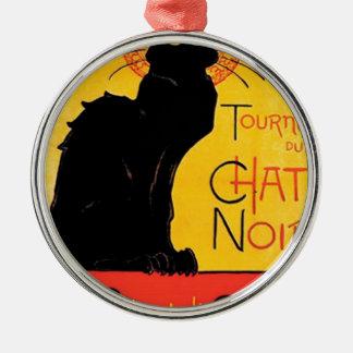 Théophile-Alexandre Steinlen - Tournée du Chat Noi Silver-Colored Round Decoration