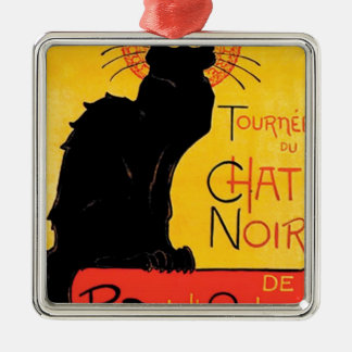 Théophile-Alexandre Steinlen - Tournée du Chat Noi Silver-Colored Square Decoration