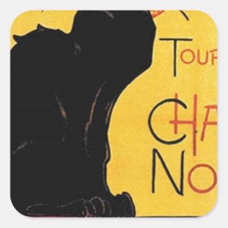 Théophile-Alexandre Steinlen - Tournée du Chat Noi Square Sticker