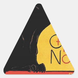 Théophile-Alexandre Steinlen - Tournée du Chat Noi Triangle Sticker