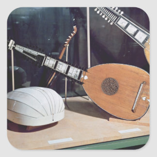 Theorbo, 1637 square sticker