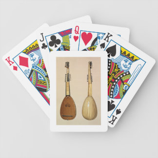 Theorbo, made by Giovanni Krebar, Padua, 1629, fro Bicycle Playing Cards