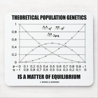 Theoretical Population Genetics Matter Equilibrium Mouse Pad