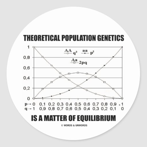 Theoretical Population Genetics Matter Equilibrium Round Stickers