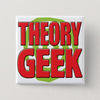 Theory Geek 15 Cm Square Badge