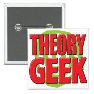 Theory Geek 15 Cm Square Badge