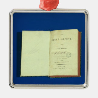Theory of Colours, 1810 Silver-Colored Square Decoration