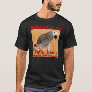 TheParrotCafe.com Red Tail Brand Coffee T-Shirt