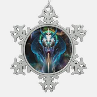 Thera Queen Of The Galaxy Snowflake Ornament