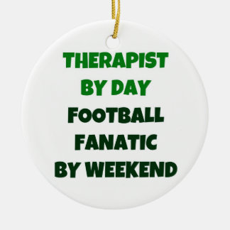 Therapist by Day Football Fanatic by Weekend Christmas Ornament
