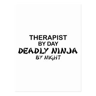 Therapist Deadly Ninja by Night Postcard