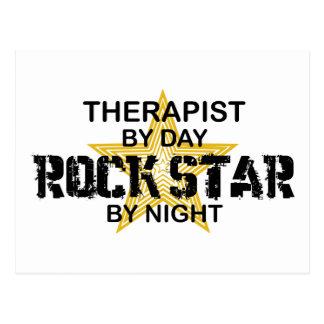 Therapist Rock Star by Night Postcard