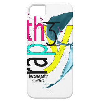 Therapy because paint splatters iPhone Case iPhone 5 Cover