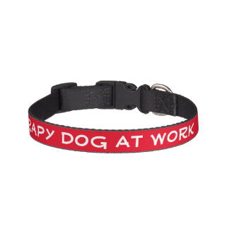 Therapy Dog At Work (small) Pet Collar