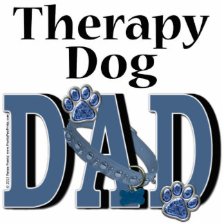 Therapy Dog DAD Photo Cut Out