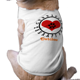 Therapy Dog - Heart Paw and Name Shirt