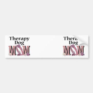 Therapy Dog MOM Bumper Sticker