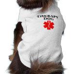 Therapy Dog Red Medical Alert Tank Top Shirt Sleeveless Dog Shirt