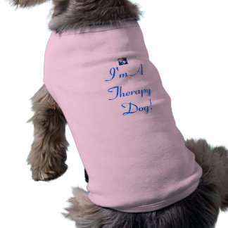 Therapy Dog tank in Pink Sleeveless Dog Shirt