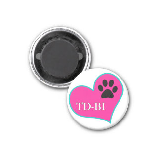 [Therapy Dogs Bloomington Illinois] 3 Cm Round Magnet