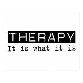 Therapy It Is Postcard
