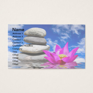 Therapy Rock Stones & Lotus Flower Business Card