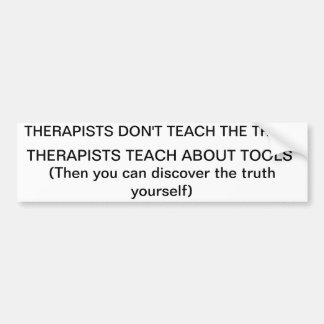 therapy teaches about tools bumper sticker