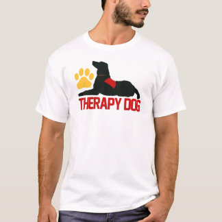 (Therapy) Therapy Dog Red T-Shirt