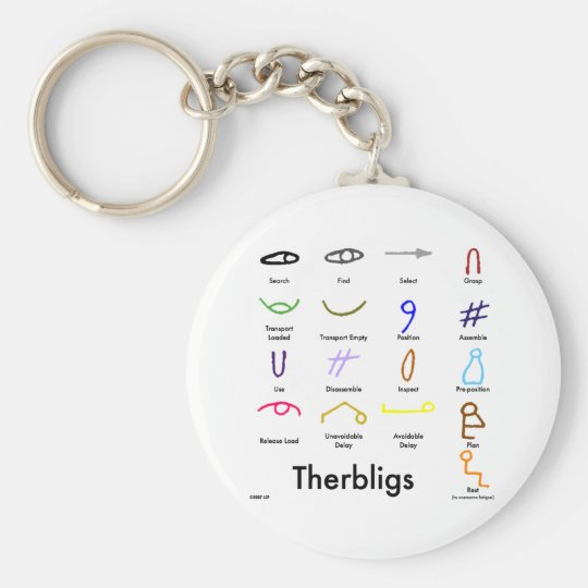 Therbligs Basic Round Button Key Ring