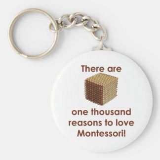 There are 1000 Reasons to Love Montessori Basic Round Button Key Ring