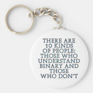There are 10 kinds of people... basic round button key ring