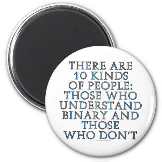 There are 10 kinds of people fridge magnet