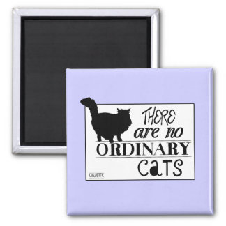 There Are No Ordinary Cats - All Colours Square Magnet