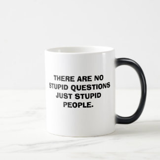 THERE ARE NO STUPID QUESTIONS JUST STUPID PEOPLE. MAGIC MUG