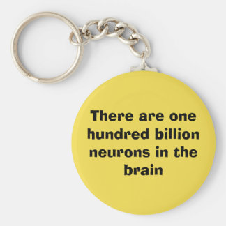 There are one hundred billion neurons in the brain key ring