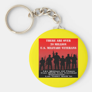There Are Over 20 Million US Military Veterans Basic Round Button Key Ring