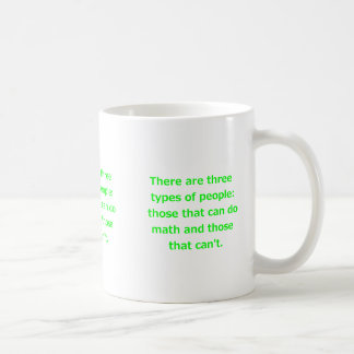 THERE ARE THREE KINDS OF PEOPLE CAN DO MATH CAN'T COFFEE MUG