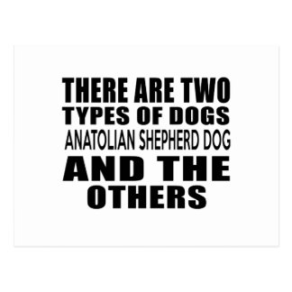 THERE ARE TWO TYPES OF DOGS ANATOLIAN SHEPHERD DOG POSTCARD