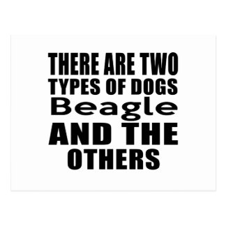 THERE ARE TWO TYPES OF DOGS Beagle AND THE OTHERS Postcard