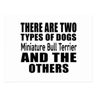 THERE ARE TWO TYPES OF DOGS Miniature Bull Terrier Postcard