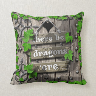 There be Dragons King Arthur Medieval Dragon Door Cushion