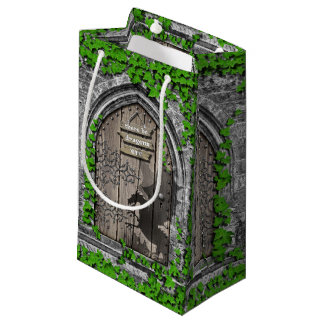 There be Dragons King Arthur Medieval Dragon Door Small Gift Bag