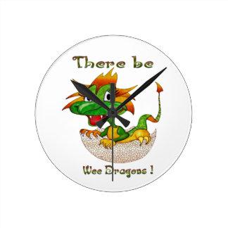 There Be Wee Dragons Wallclocks