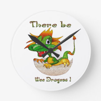 There Be Wee Dragons Round Clock