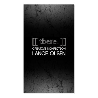 [[ there. ]]: CREATIVE NONFICTION BY LANCE OLSEN Pack Of Standard Business Cards