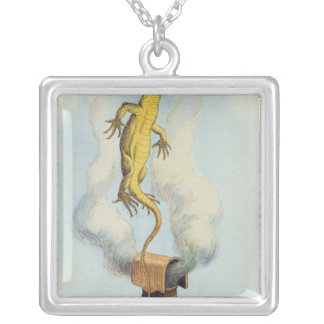 There Goes Bill!' Silver Plated Necklace